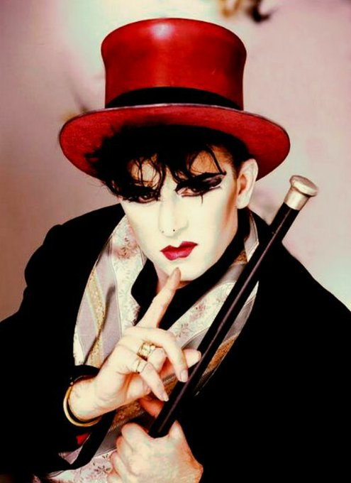 Happy birthday to the legendary 1980\s creative force in music, art and style, the iconic Steve Strange (R.I.P)