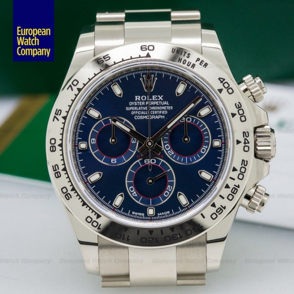 Rolex 116509 #Daytona Blue Dial 18K White Gold.  https:// goo.gl/yLfjNn  &nbsp;   #Rolex #Swiss #WhiteGold #Timepiece #ForSale #Boston<br>http://pic.twitter.com/Ei6wegoxNe