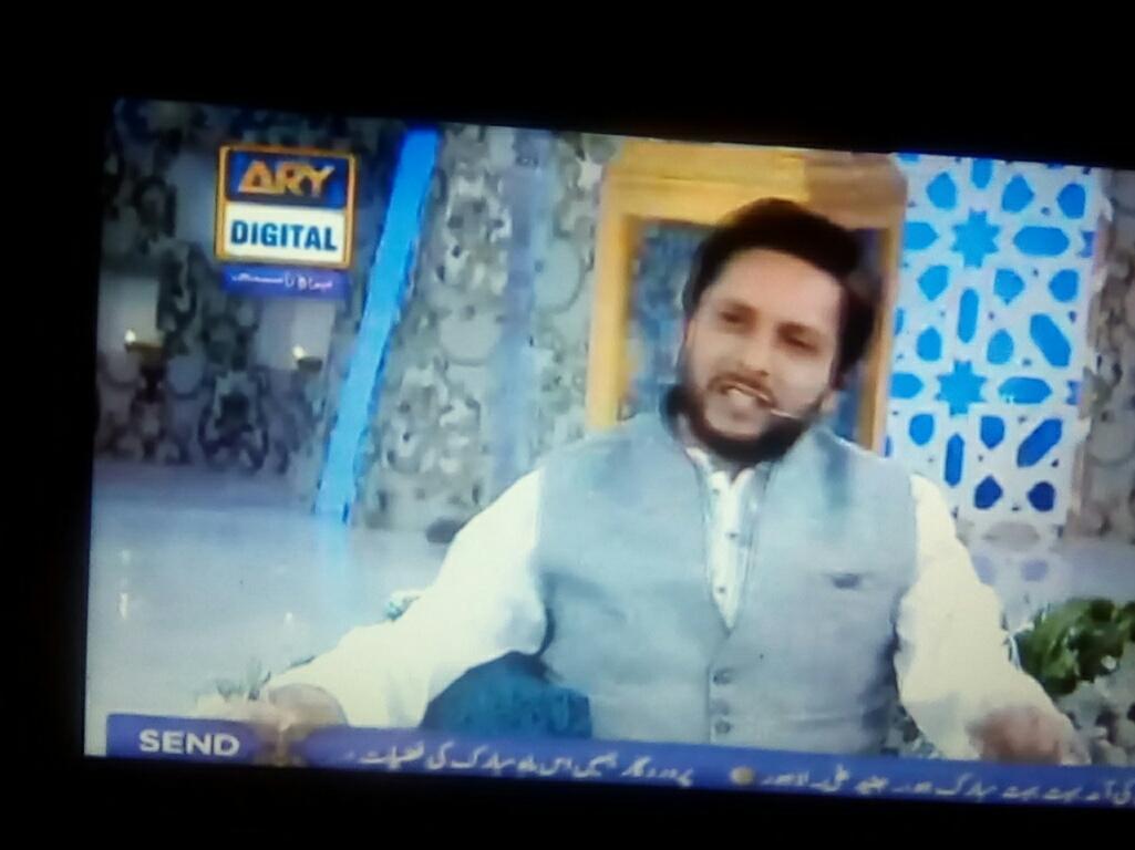 Lovely #peoples Wonderful  #Gathering Amazing #Transmission #Shan_e_Ramzan #Jaan_e_Ramzan @SAfridiOfficial  @iqrarulhassan  @WaseemBadami<br>http://pic.twitter.com/nxvMnBcxYK