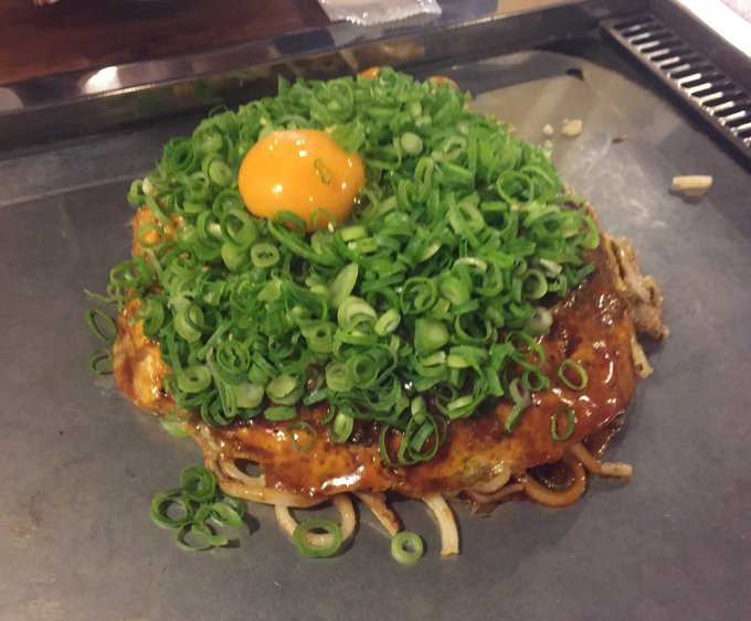 The very delicious #hiroshima-style okonomiyaki at lunch. #japan #travel #foodie #sunday