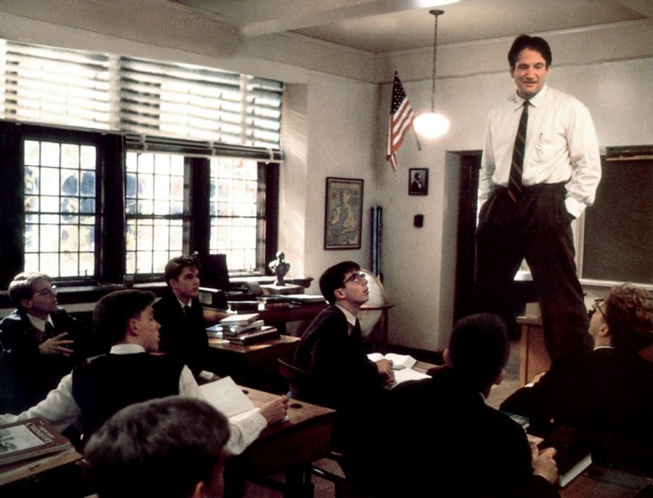 Image result for Dead poets society stand on desks
