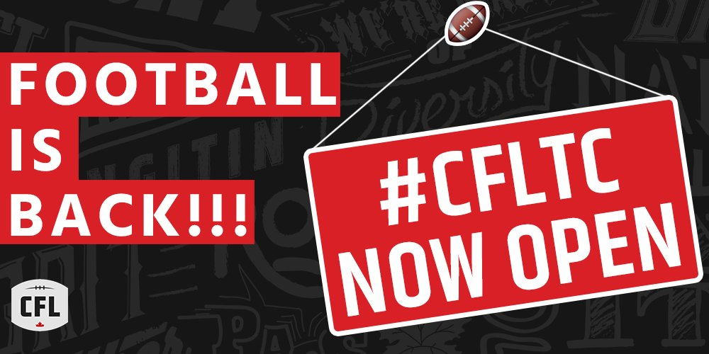 #CFL​ Training Camps are officially OPEN! 🙌🙌🙌  RT & let everyone k...