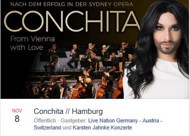 From Vienna With Love Conchita &amp; Orchester 08.11.2017 #Hamburg #Laeiszhalle  https://www. facebook.com/events/1442082 882492277/?acontext=%7B%22ref%22%3A%2222%22%2C%22feed_story_type%22%3A%2222%22%2C%22action_history%22%3A%22null%22%7D &nbsp; … <br>http://pic.twitter.com/camkoT9LeJ