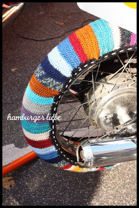 Crochet Tire Warmers Spotted In Hamburg, Germany