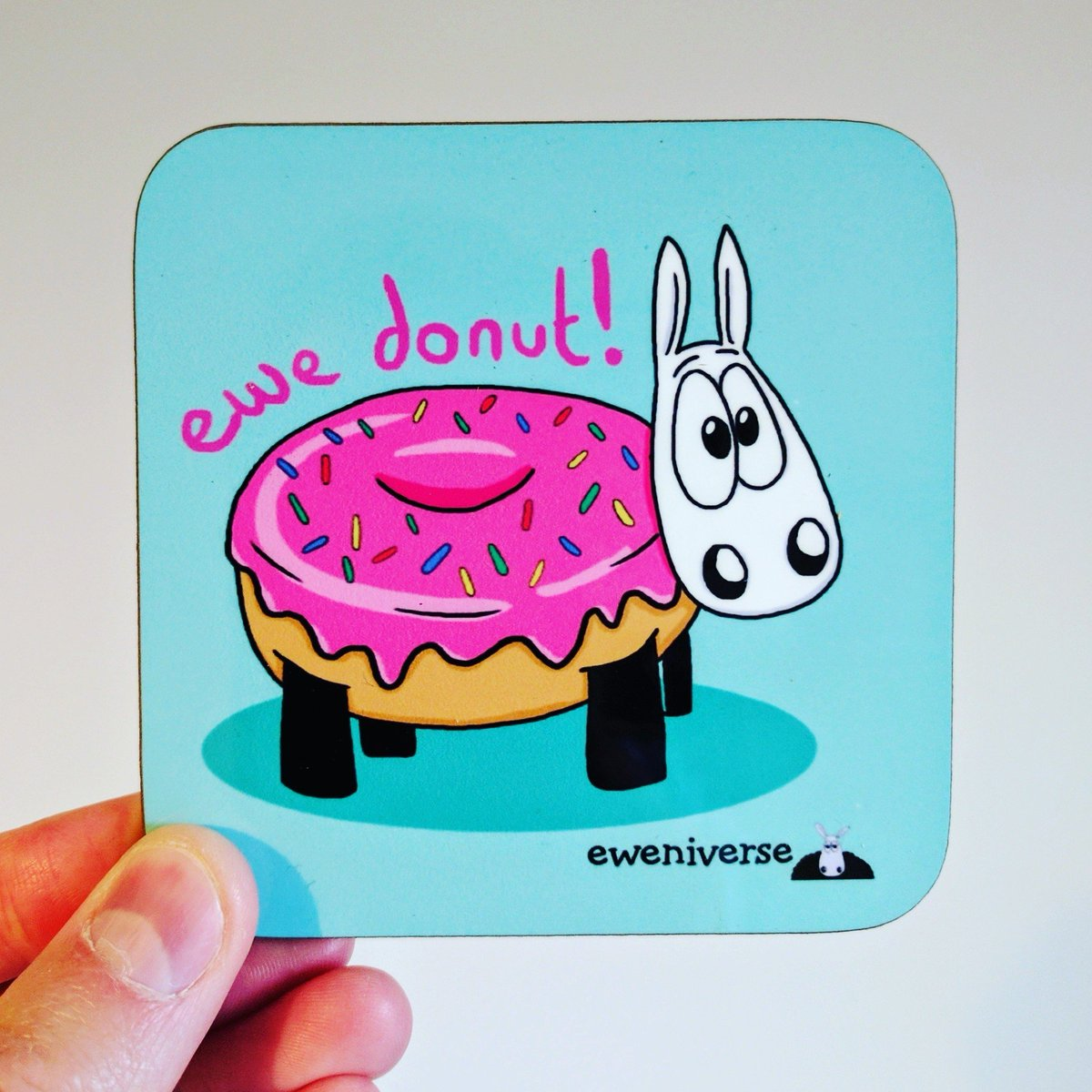Hello #HandmadeHour!   Our &quot;sweet&quot; new coaster at  http:// eweniverse.com  &nbsp;     #HandmadeHour #Sheep #etsysellers #Etsy <br>http://pic.twitter.com/Az45p2bV51