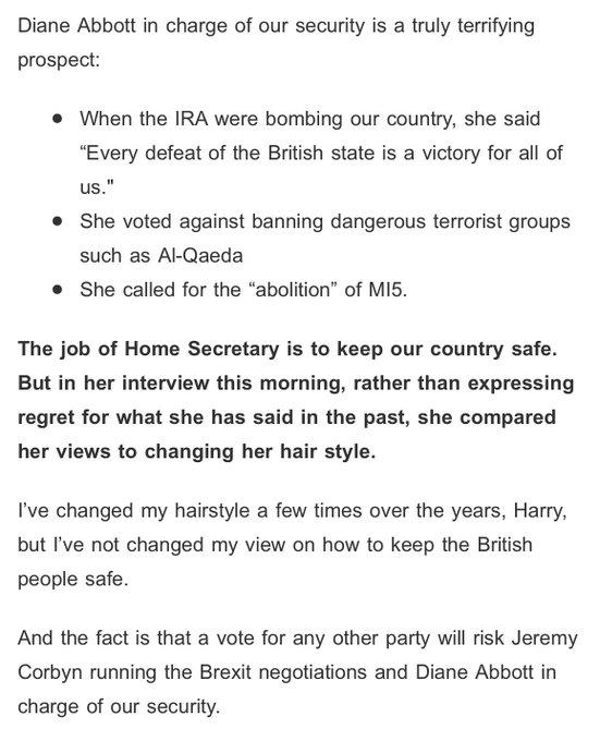 Tories pounding Abbott hard tonight via Amber Rudd email.