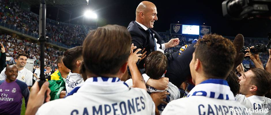 Did you know?   #Zidane is the fifth coach to win both LaLiga and the European Cup with us!   WATCH:  http:// bit.ly/ZZTrophies  &nbsp;    <br>http://pic.twitter.com/mClBTBAMzp