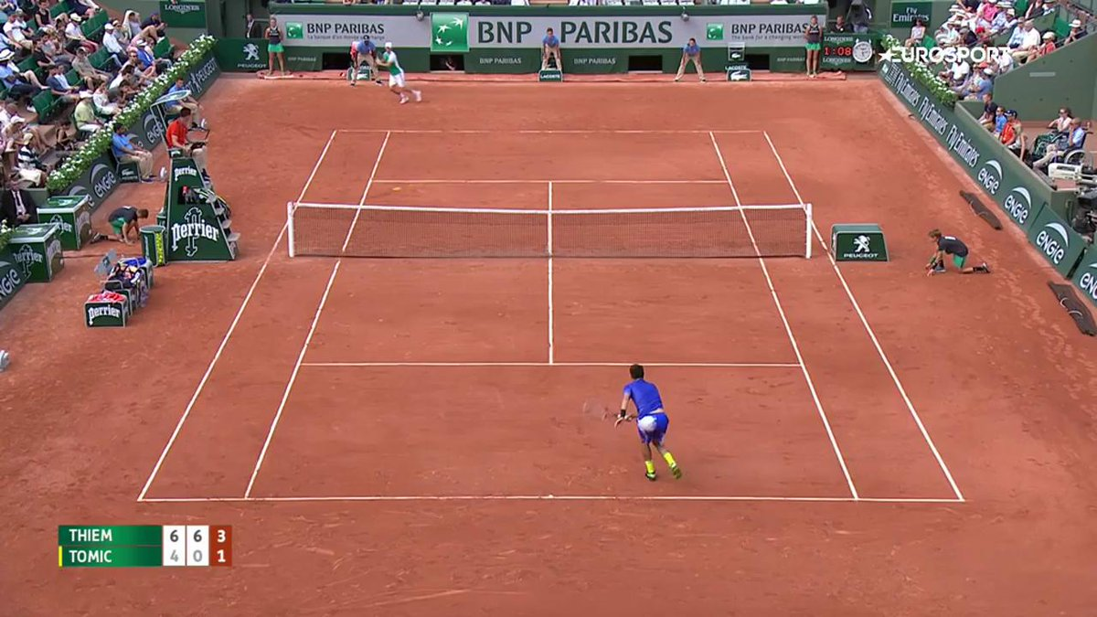 Il est là, le point du jour ! 😱 #RG17 https://t.co/x0uIsQgkhT