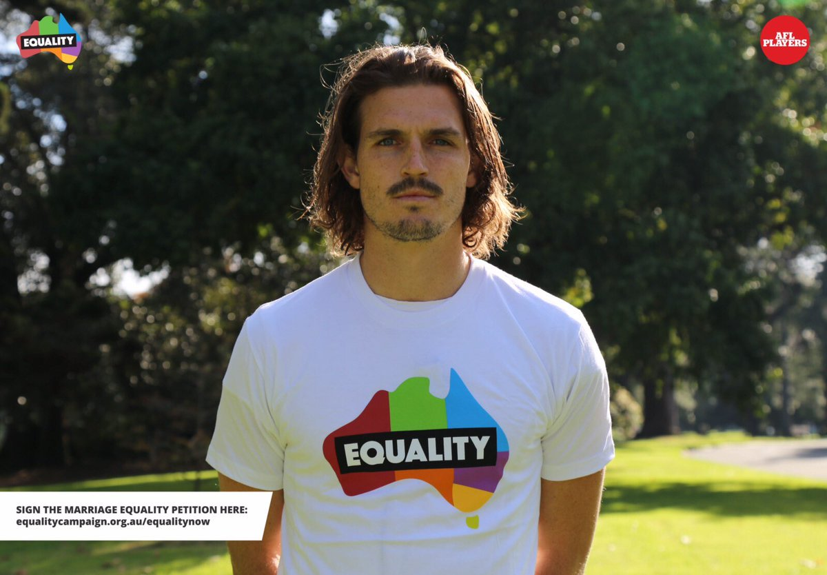 &#39;Footy for Marriage Equality&#39; supported by @AFL #football stars including @phildavis_1 @easton_wood @jp_kennedy #Footy4IDAHOBIT  @AMEquality<br>http://pic.twitter.com/AlXP2vJxij