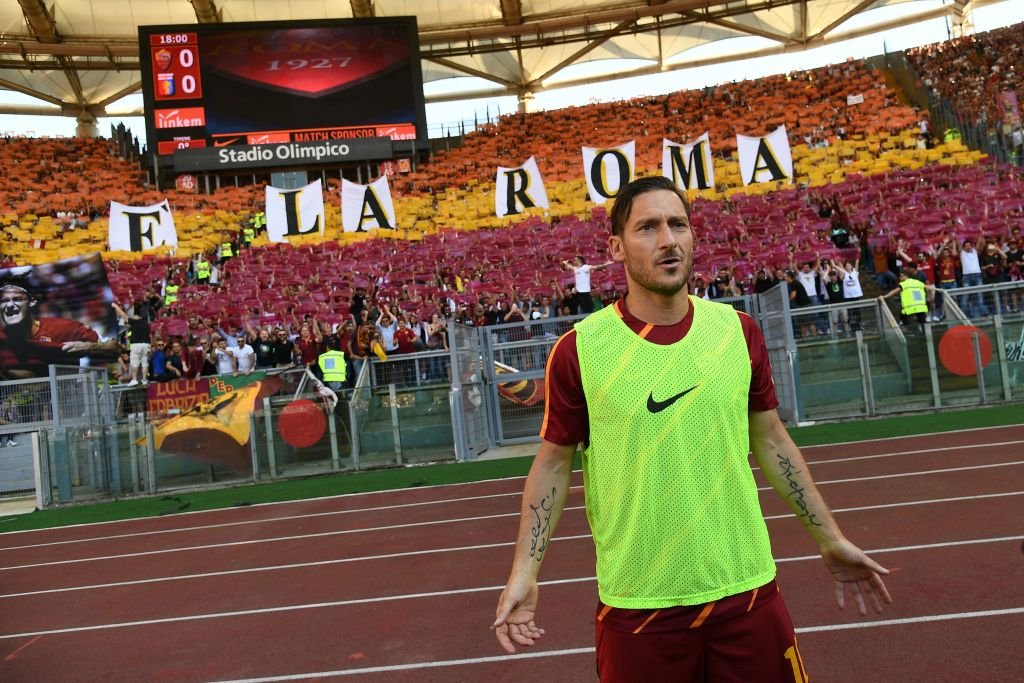 '@Totti is Roma' The Giallorossi supporters salute their 307-goal hero...