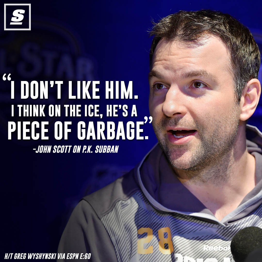 John Scott certainly didn't hold back when asked his opinion of P.K. S...