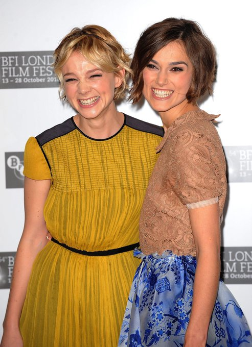 Happy Birthday Carey Mulligan! Keira Knightley and Carey Mulligan at the BFI London Film Festival (2010)