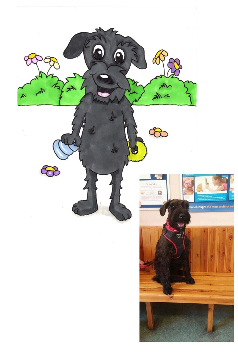 Please retweet the lovely Bonnie she&#39;s been tooned for a donation to @NCARUK #ncar #charity #pet #DogLover #dogs #cartoon #animal #donate<br>http://pic.twitter.com/o7mkuJ999e
