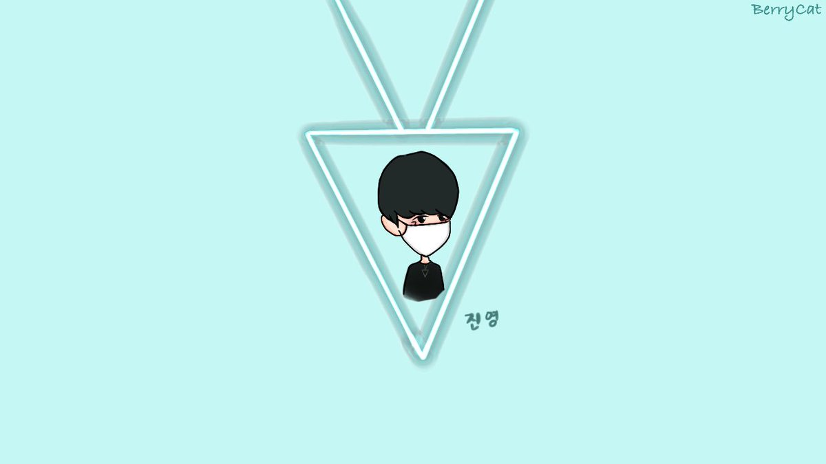 Jinyoung ah @jrjyp what is on your triangle???🔻 Original pic from @tab940922 ❤️ #GOT7 #GOT7fanart #Jinyoung #박진영