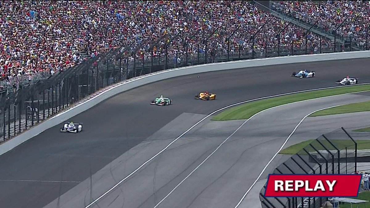 REPLAY: @scottdixon9 checked, cleared, and released after this turn 1 incident during the #Indy500 at @IMS. #INDYCAR https://t.co/gaD950M27F