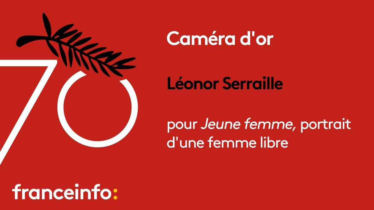 #Cannes70 : la Caméra d'or remise à Léonor Serraille pour 'Jeune femme' https://t.co/uZbnOWIXyj