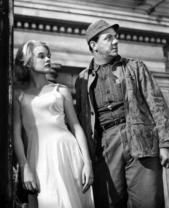 "Happy Birthday to Carroll Baker, seen here with Karl Malden in ""Baby Doll\"" (1956)."