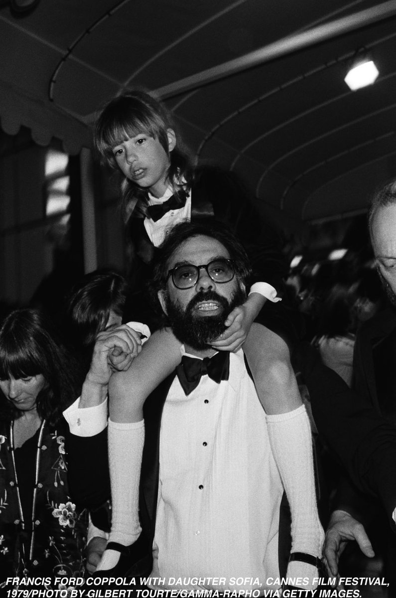 #Cannes Throwback to 1979: Francis Ford and Sofia Coppola. Awww... <br>http://pic.twitter.com/p2YXOwwoF3