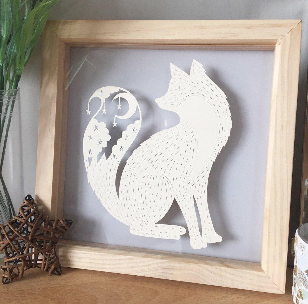 Mr Fox Papercut  #crafthour #handmade #fox #homedecor #wildlife #papercut  https://www. etsy.com/uk/listing/478 807682/fox-picture-wildlife-art-nature-art-fox?ref=shop_home_active_6 &nbsp; … <br>http://pic.twitter.com/BrWTYfJAv3