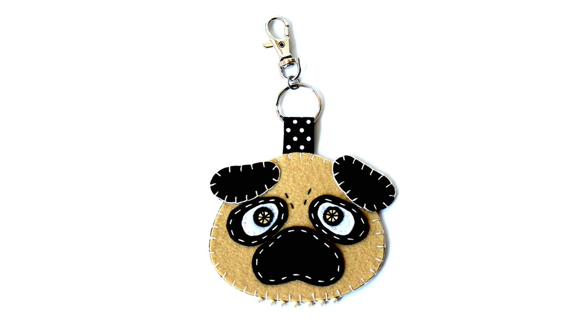 Love #pugs? #Cute pug bag charms in my #Etsy shop  http:// etsy.me/2gHF3aQ  &nbsp;   #CraftHour #onlinecraft #handmade #SmallBiz #epiconetsy<br>http://pic.twitter.com/QgwUPpoOW4