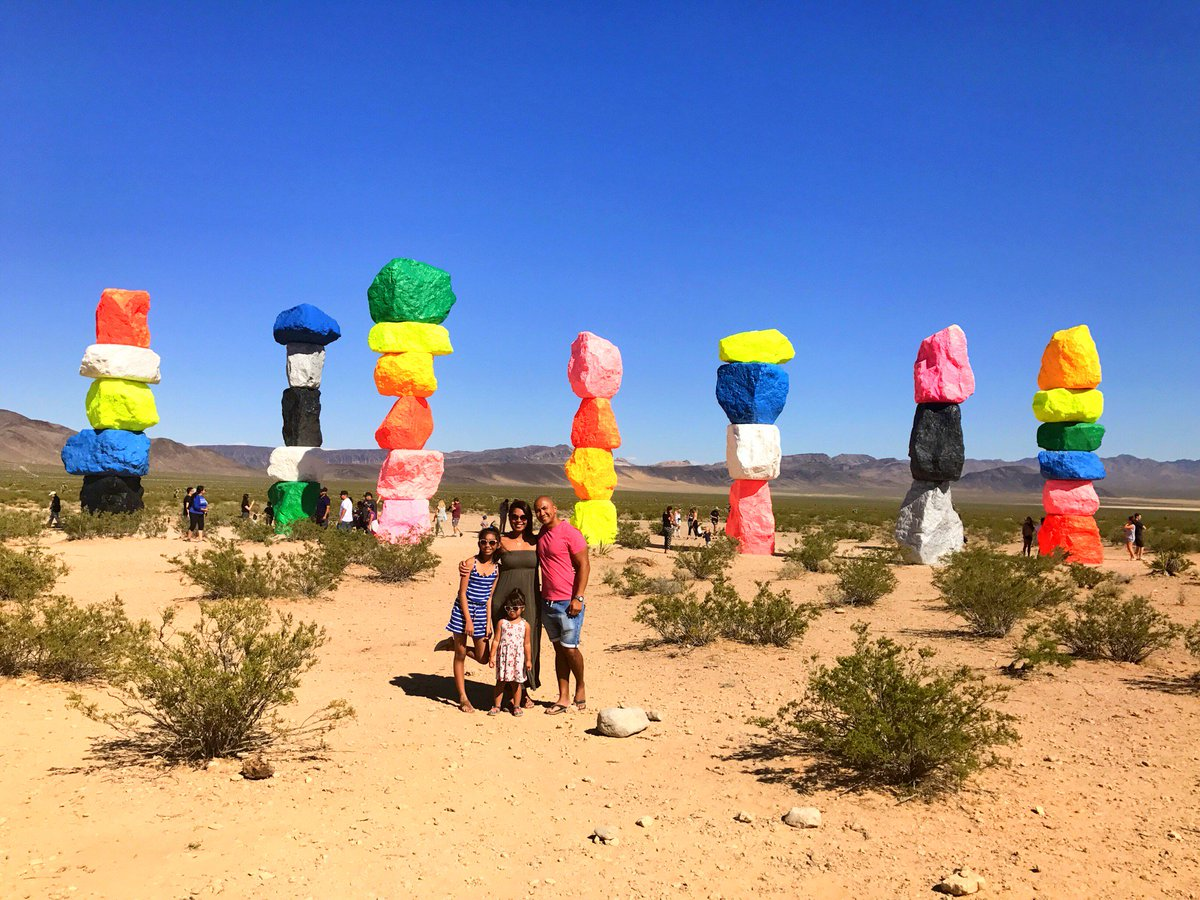 Quick stop to these candy colored totems  #Jean #Nevada (@ Seven Magic Mountains)  https://www. swarmapp.com/c/bSOHVFKXx96  &nbsp;  <br>http://pic.twitter.com/yYmAeEy1PI