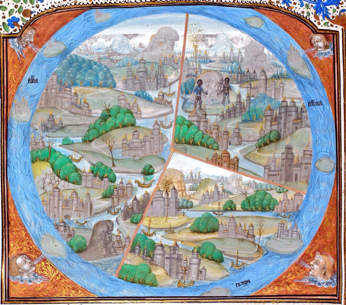 Map Of The World Before Columbus.Johan Oosterman On Twitter The World Before Columbus And Mercator