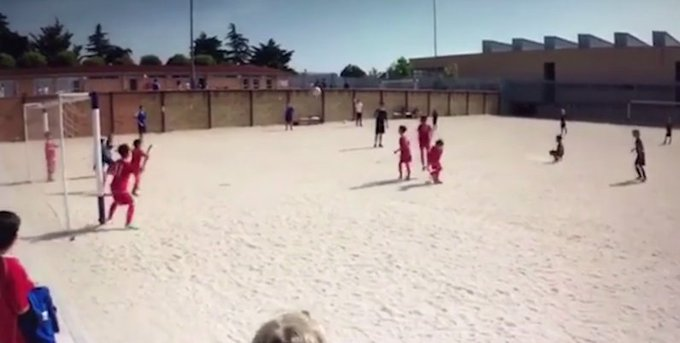 Cristiano Ronaldo's son Cristiano Jr follows in his father's footsteps by scoring amazing free-kick https://t.co/hE5OG5eEaB