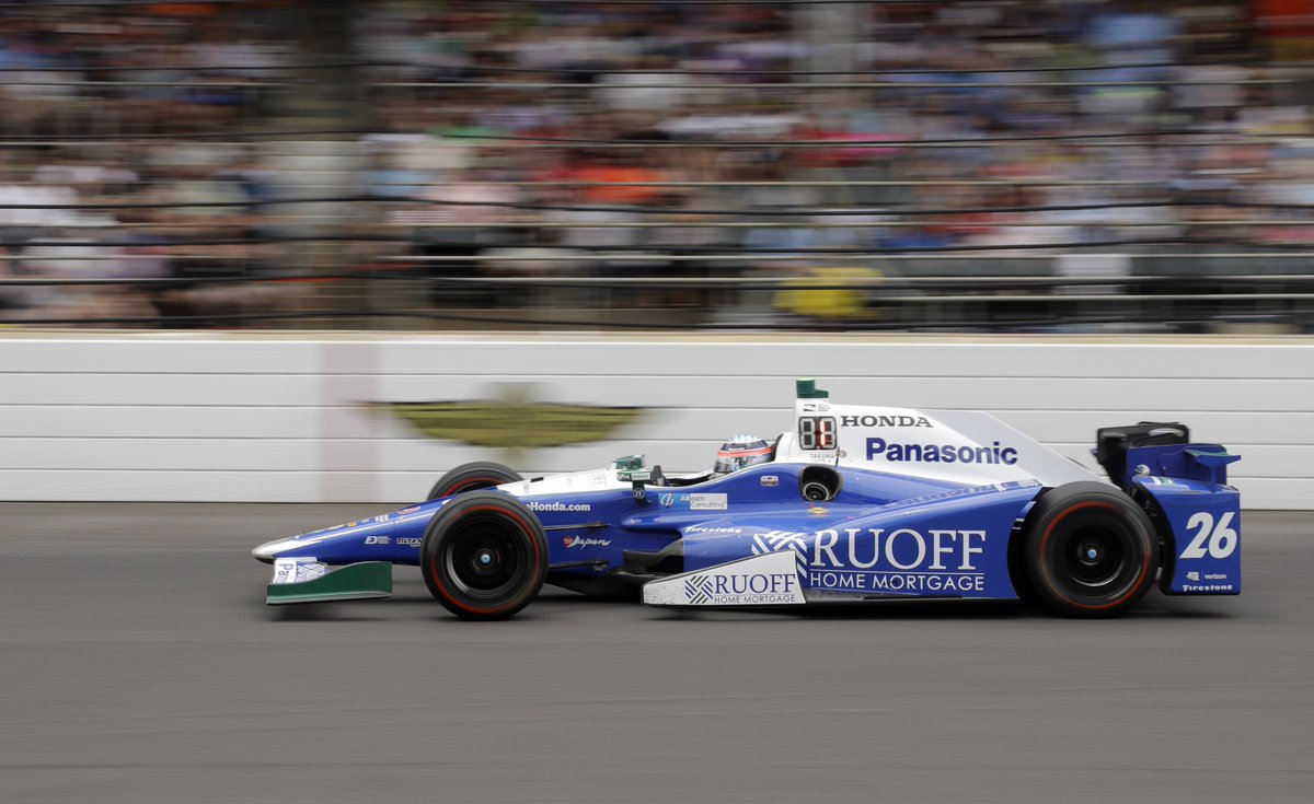 Takuma Sato takes it home!   He's the first 40-year-old Indy 500 winne...
