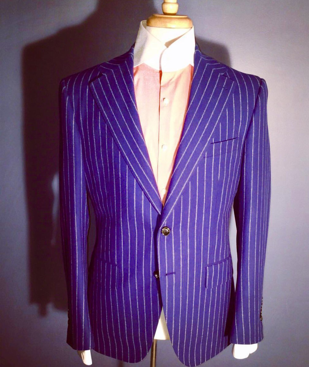 Blue chalk stripe suit#Menswear #fashion #madetomeasure #design #custom #stylist #Suits #blazer #mensstyle @CCOCHRANEDESIGN<br>http://pic.twitter.com/b0XqkMPi98