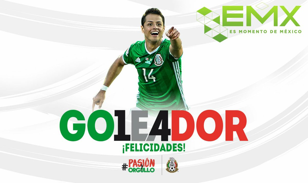 #EsMomentodeMexico #chicharito @CH14_  máximo goleador de #Mexico @EsMomentoMx