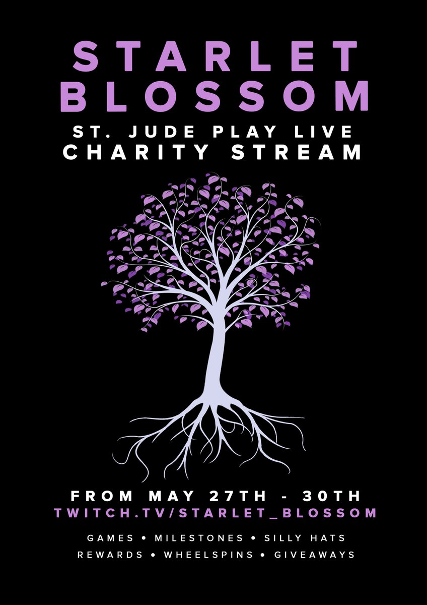 Live Raising more money For St. Judes, please come and join me for some laughs and a good cause! #charity #twitch   https://www. twitch.tv/starlet_blossom  &nbsp;   <br>http://pic.twitter.com/Nyjg0614Pe