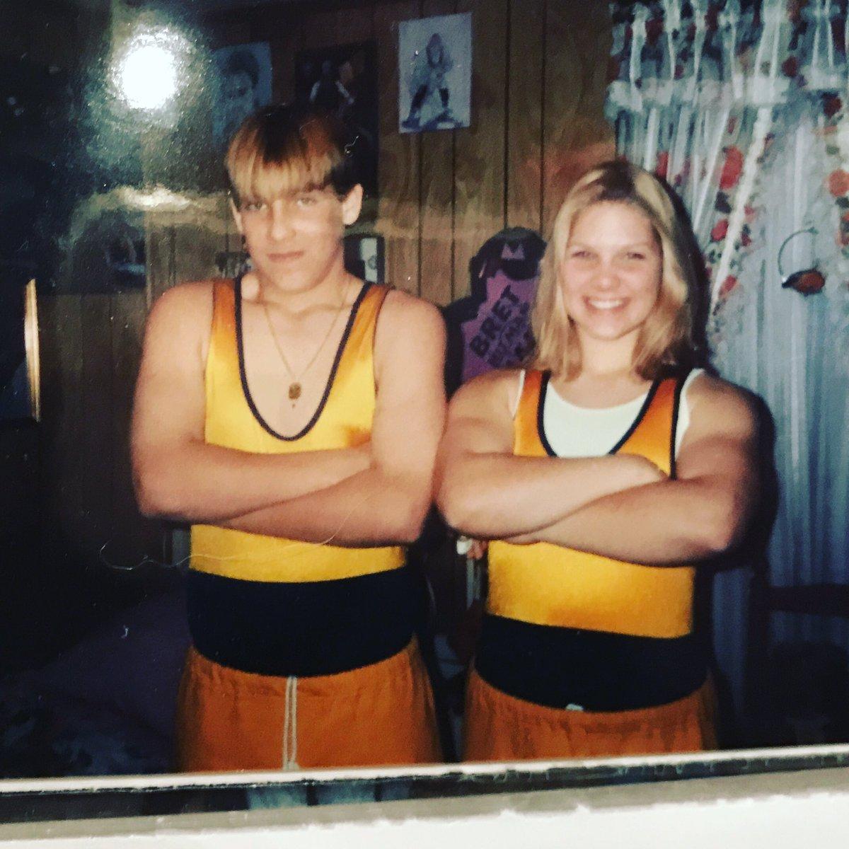 Kocianski Siblings ready to rumble #ElmiraNotreDame #1998 #TwentyYearsAgo 🤢