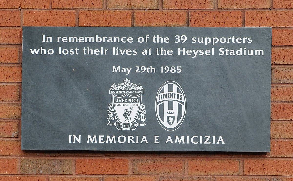 Liverpool FC today remembers the 39 football fans who lost their lives...