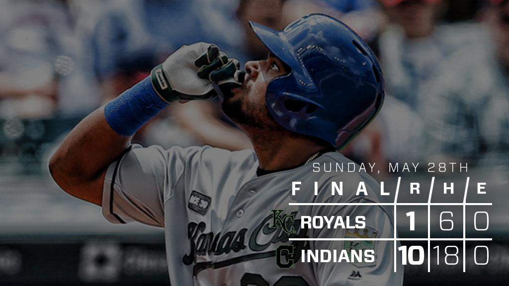 RECAP: Bonifacio hits 7th homer as #Royals drop finale to Indians: htt...