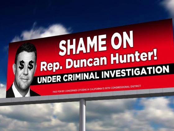 RT please!  Help #FlipCongress  Chip in for this billboard to share #Truth of @FBI investigation of #DuncanHunter   http:// bit.ly/2rv3MYj  &nbsp;  <br>http://pic.twitter.com/KWmfSACzKJ