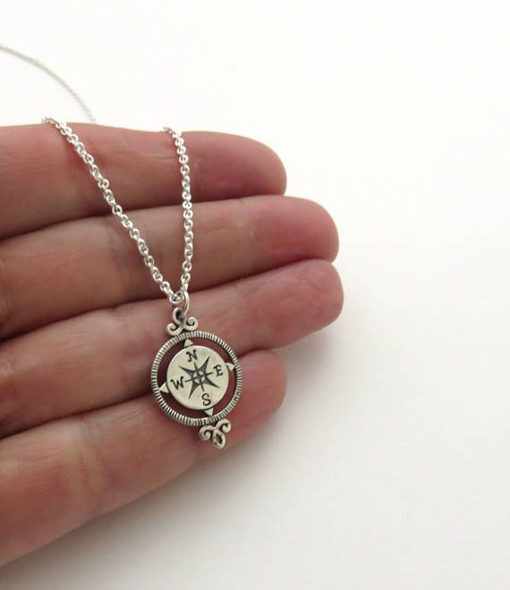 Silver Compass Necklace Link-  http:// etsy.me/2rYurd0  &nbsp;     #compassrose #handmade <br>http://pic.twitter.com/9Teso1mMJc