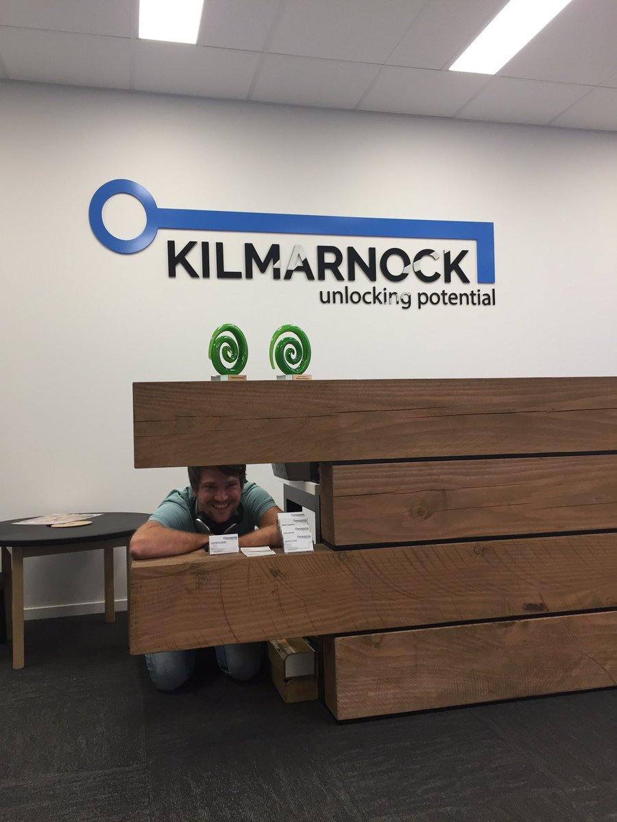 Spot Felix from @SAPANZ social sabbatical. Seems he got a little scared by the trademark Kilmarnock enthusiasm. #socent @akinafoundation<br>http://pic.twitter.com/P7T2wpmAvG