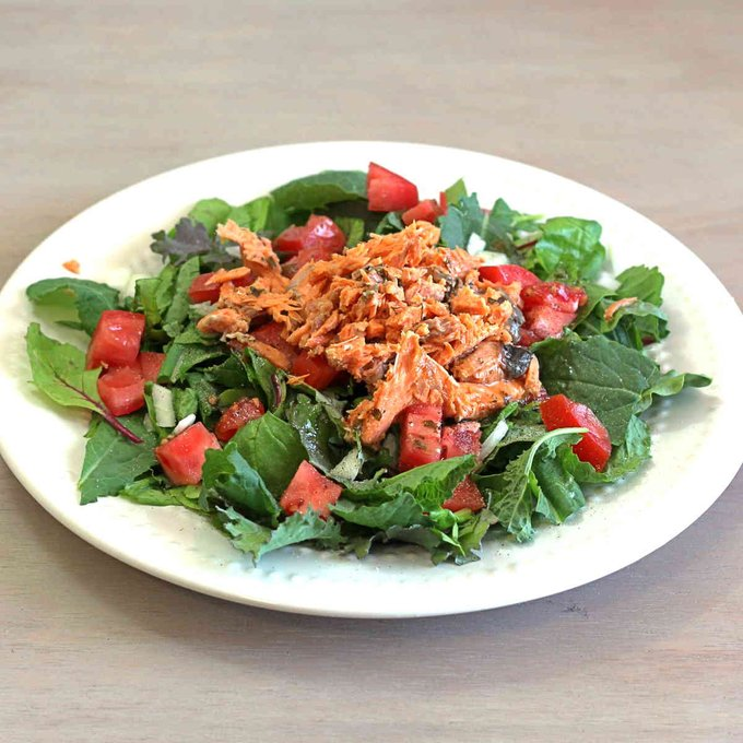Red Sockeye Salmon Salad Recipe