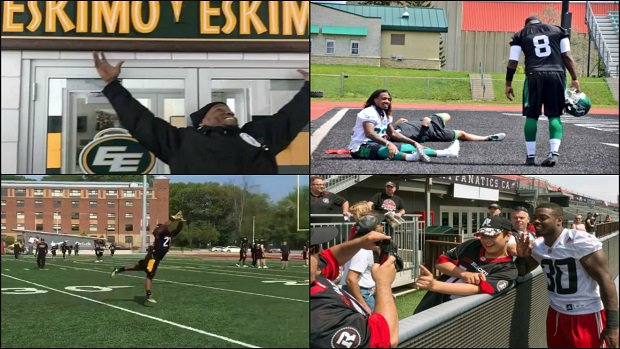 All the best moments from opening day of @CFL training camps. VIDEOS +...
