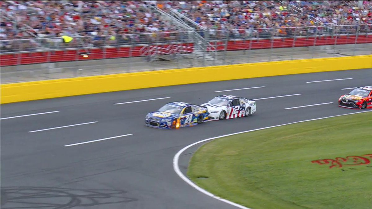 Here's another look at why we're under caution.  #CocaCola600 https://...