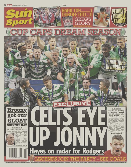 Here's a first look at tomorrow's back page