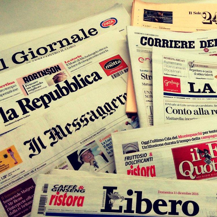 Buongiorno! Le prime pagine dei giornali in #edicola: la fotorassegna di Rainews.it → https://t.co/smy3itRpPQ #29maggio