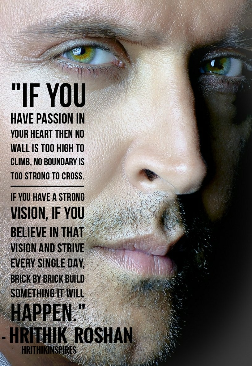 #MondayMotivation: Feed your passion, believe it,nurture it,work on it n it&#39;l turn into manifestation as @iHrithik says. #Hrithik #bollywood <br>http://pic.twitter.com/pguJElA4q7