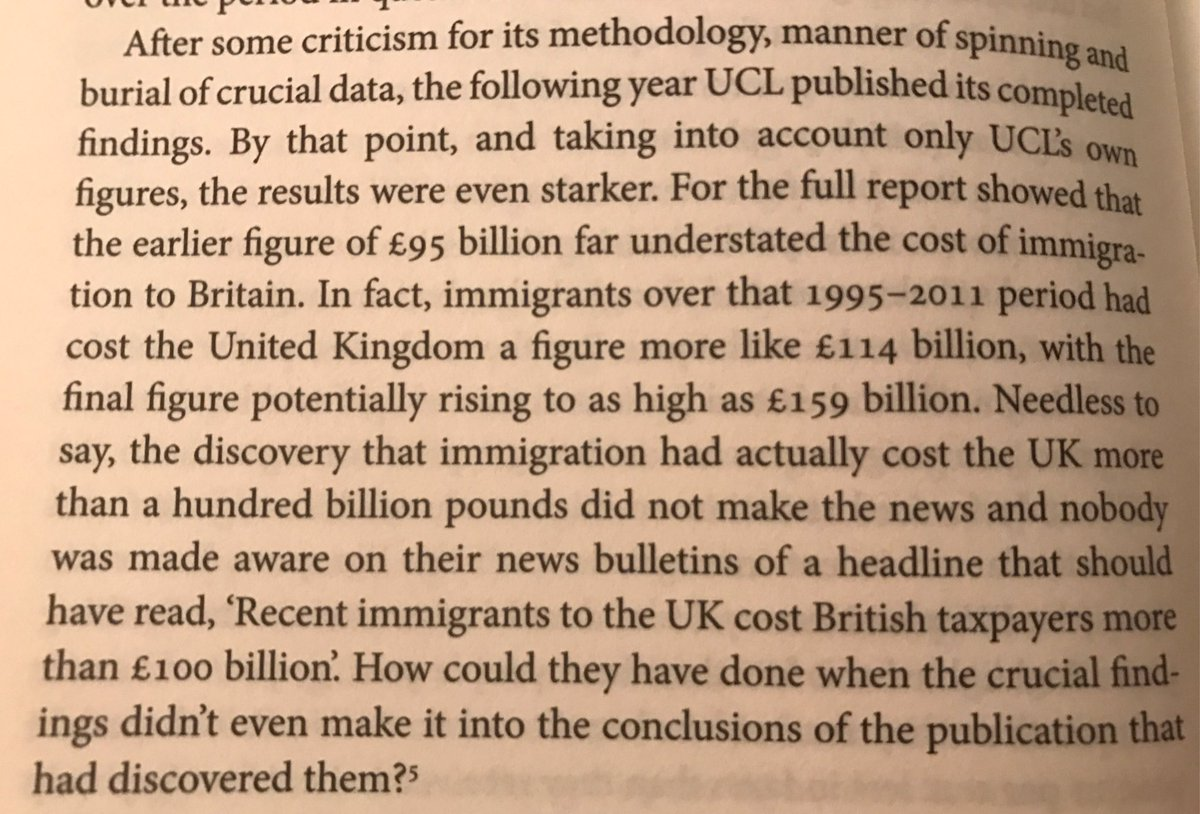 Between 1995-2011, immigration cost the UK at least £114 billion (welfare payments & services vs taxes).