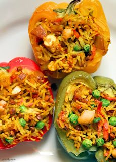 Indian Inspired Stuffed Peppers