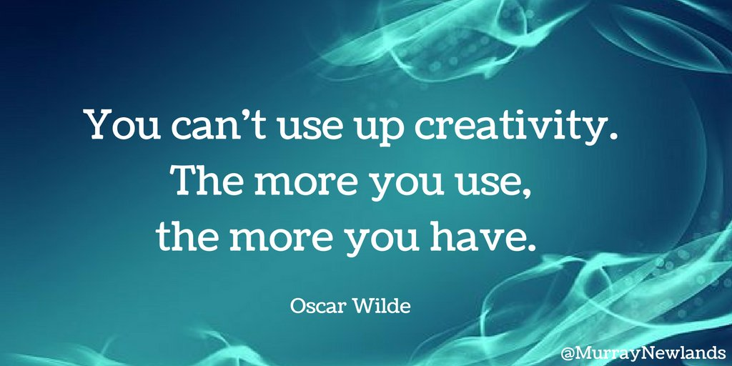 You can&#39;t use up creativity. The more you use, the more you have -- Oscar Wilde  #Motivation #Creativity<br>http://pic.twitter.com/N9PSRJkrxz
