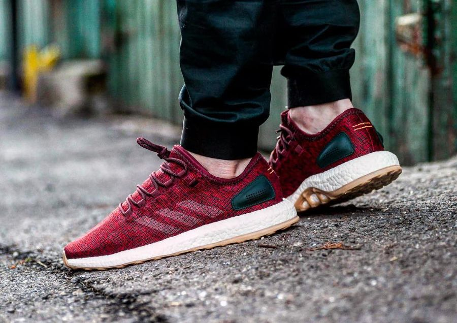 Adidas Pure Boost 'Burgundy' $88.00 Free Shipping https://t.co/giiLPzZ...