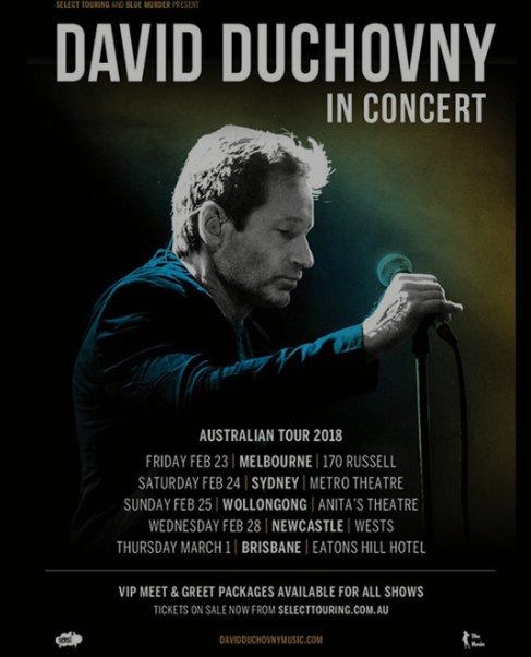 David Duchovny - #Australia #Concert #Tour Dates Announced  http://www. duchovniacs.com/just-david/dav id-duchovny-australian-tour-dates-announced/ &nbsp; … <br>http://pic.twitter.com/5c0tGrtpFN