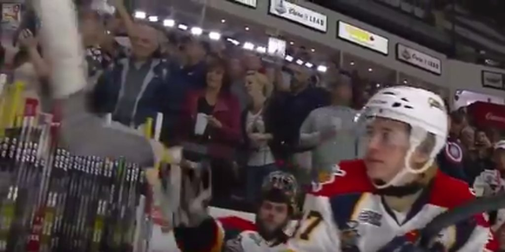 ErieOtters goalie throws stick at the camera after losing in the   MCMemorialCup finals to the  WindsorSpitfires https   youtu.be jyjG1aSXbRM  ... 6f1e6f647