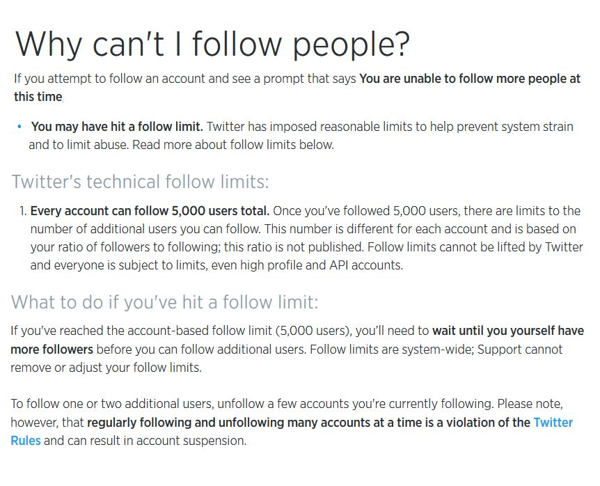 #ITried #FollowBack#Follower Unable #Twitter #Rule Apparently 5,000 #People Limit #SoSorry #MustWait More #Patriots #Friends #Added #IGuess<br>http://pic.twitter.com/Hvoo918P3q